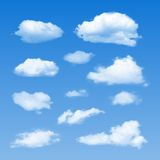 Vector Collection of Cloud Symbols Royalty Free Stock Photos