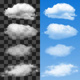 Vector Collection of Cloud Symbols Stock Photography
