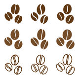 Vector collection: coffee beans Stock Image