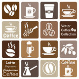 Vector collection: coffee icons Royalty Free Stock Images