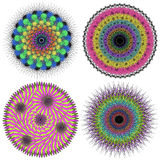 Vector collection of color mandalas. Royalty Free Stock Photos