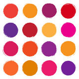 Vector collection of colored spots. Vector set of colored spots Royalty Free Stock Photos