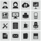 Vector collection of colorful flat business and finance icons. Royalty Free Stock Images