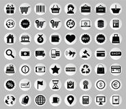 Vector collection of colorful flat business and finance icons. Stock Image