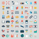 Vector collection of colorful flat business and finance icons. Stock Photography
