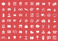 Vector collection of colorful flat business and finance icons. Royalty Free Stock Image