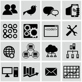 Vector collection of colorful flat business and finance icons with long shadow. Design elements for mobile and web applications Royalty Free Stock Photos