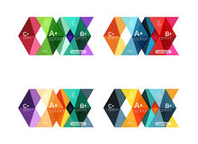 Vector collection of colorful geometric shape infographic banners Royalty Free Stock Photo
