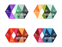 Vector collection of colorful geometric shape infographic banners Stock Image
