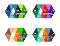 Vector collection of colorful geometric shape infographic banners Royalty Free Stock Images