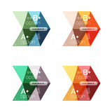 Vector collection of colorful geometric shape infographic banners Royalty Free Stock Image