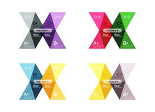 Vector collection of colorful geometric shape infographic banners Stock Images