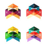 Vector collection of colorful geometric shape infographic banners Stock Photo