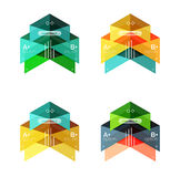 Vector collection of colorful geometric shape infographic banners Stock Photos