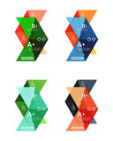 Vector collection of colorful geometric shape infographic banners Stock Photography