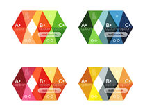 Vector collection of colorful geometric shape infographic banners Royalty Free Stock Photography