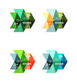 Vector collection of colorful geometric shape infographic banners Royalty Free Stock Photos