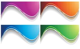 Vector collection colorful wave Stock Images