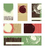 Vector collection of contrast colored business vertical and horizontal cards and banner hand drawn with liquid ink and brush, with Royalty Free Stock Photo