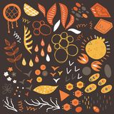 Hand drawn shapes and objects. Vector collection of cute abstract hand drawn shapes and objects Stock Image