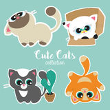 Vector collection of cute cats Stock Image