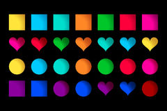 Vector collection of cute colorful icons Stock Photography