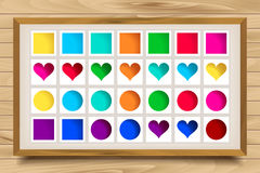 Vector collection of cute colorful icons Stock Photo