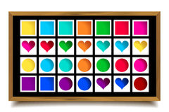 Vector collection of cute colorful icons Stock Images