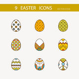 Vector collection of cute Easter icons for your card or invitation design. Stock Images
