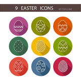 Vector collection of cute Easter icons for your card or invitation design. Royalty Free Stock Photography