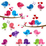 Vector Collection of Cute Love Birds. For Valentine's Day Stock Photo