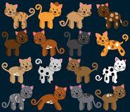 Vector Collection of Cute and Playful Cats Royalty Free Stock Photography