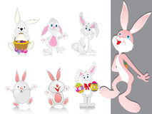 Vector collection of cute rabbit Royalty Free Stock Images