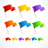 Vector Collection of different color flags Stock Images
