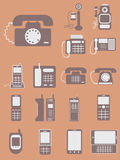 Vector collection of different phones, from retro classic to mod Stock Photography