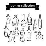 Vector collection of different shaped bottles Royalty Free Stock Photography