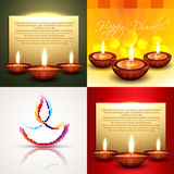Vector collection of different types of diwali background illust Stock Photos
