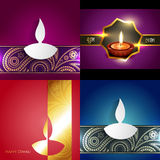 Vector collection of different types of diwali background Stock Images