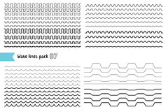 Vector collection of different wave with a very strong vibration Stock Photo