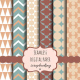 Vector Collection of Digital Papers Stock Image
