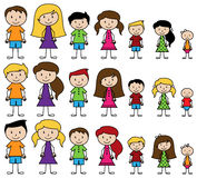 Vector Collection of Diverse Stick People in Vector Format Stock Images