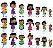 Vector Collection of Diverse Stick People in Vector Format Stock Photos