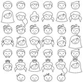 Vector Collection of Diverse Stick People in Vector Format Royalty Free Stock Photo