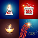 Vector collection of diwali background Royalty Free Stock Images