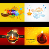 Vector collection of diwali background illustration. Vector collection of diwali background with attractive diya, shubh deepawali (translation: happy diwali