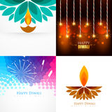Vector collection of diwali background illustration Royalty Free Stock Photo