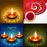 Vector collection of diwali background illustration royalty free illustration