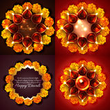 Vector collection of diwali background illustration Royalty Free Stock Photos