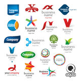 Branded collection of logos Stock Image