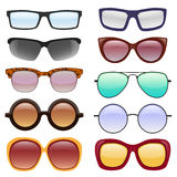 Vector collection of Eyeglasses and Sunglasses. Royalty Free Stock Images